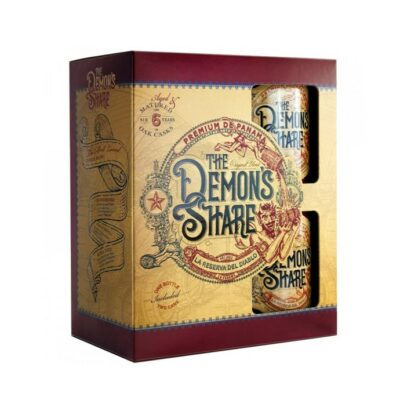 The Demon's Share Rum giftpack + 2 cups
