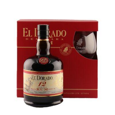 El Dorado Rum 12YO Gift Box + Glas
