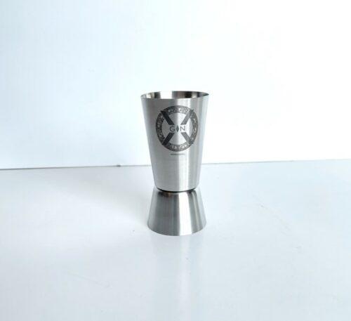 X-Gin maatbeker RVS
