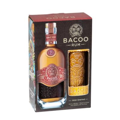 Bacoo 7yo Rum Giftpack + Tiki Mug